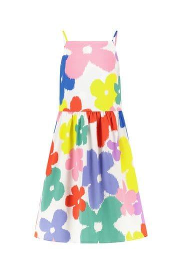 걸스 멀티 컬러 코튼 드레스