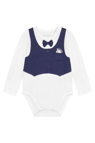 Baby Boys White Cotton Set