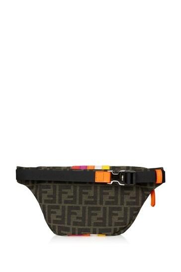 Kids Brown Cotton Belt Bag