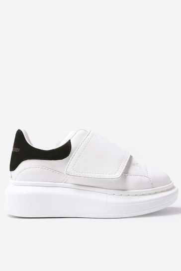 Kids Leather Velcro Trainers