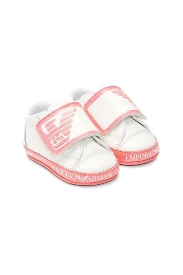 Baby Girls White Trainers