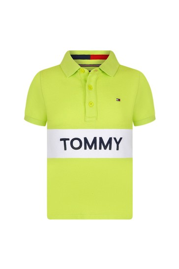Boys Lime Cotton Polo Top