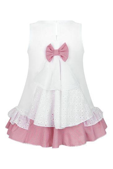 Baby Girls White Cotton Girls Maxi T-Shirt