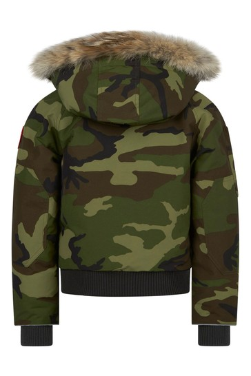 Camo Down Padded Rundle Bomber Jacket