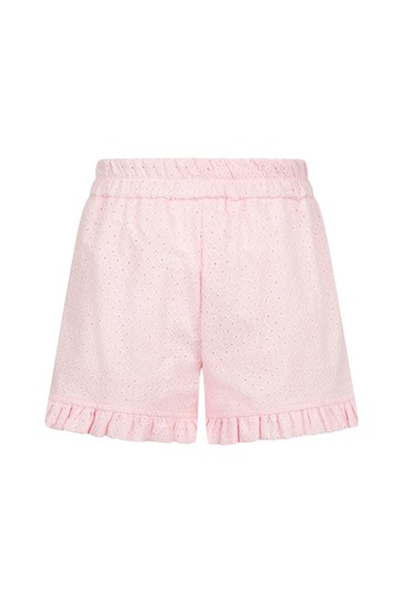 Baby Girls Pink Cotton Shorts