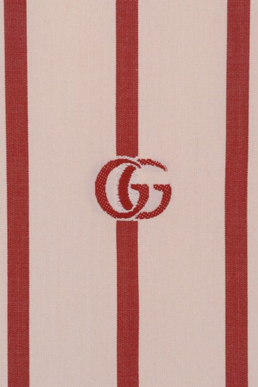 Boys Dark Red Cotton Striped Shirt