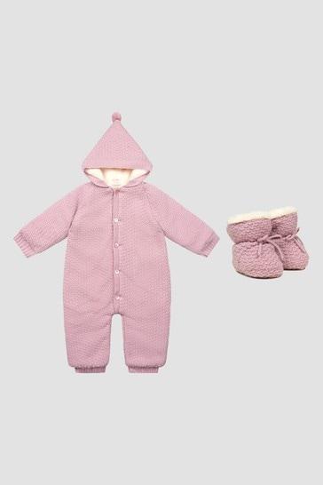 Baby Girls Pink Snowsuit