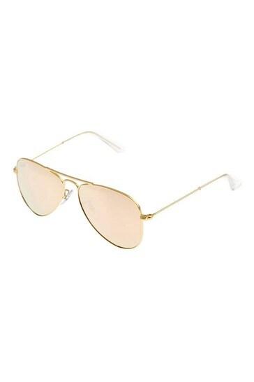 Ray-Ban Girls Rose Gold Aviator Sunglasses