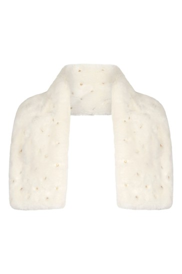 Ivory Scarf And Ear Muff Set
