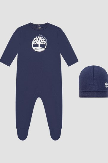 Boys Navy Sleepsuit