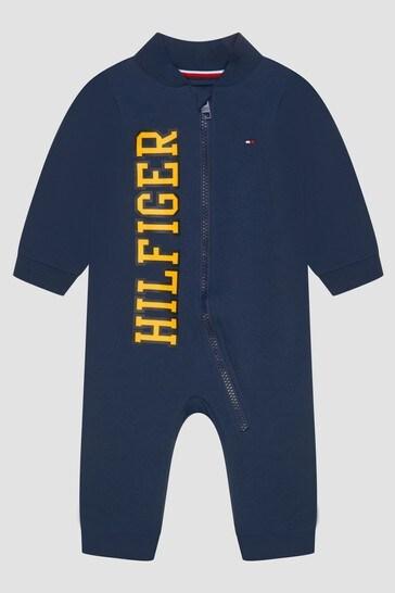 Tommy Hilfiger Baby Boys Navy Bodysuit