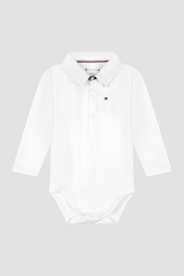 Tommy Hilfiger Baby Boys White Bodysuit