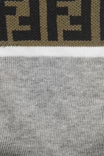 Boys Blue/Grey Socks 2 Pack