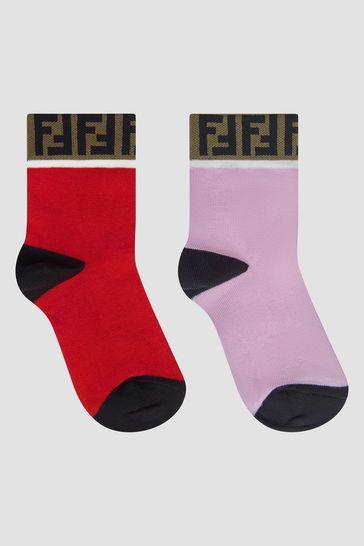 Girls Red Socks