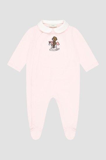 Baby Girls Pink Sleepsuit Gift Set