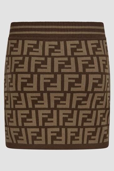 Girls Brown Skirt