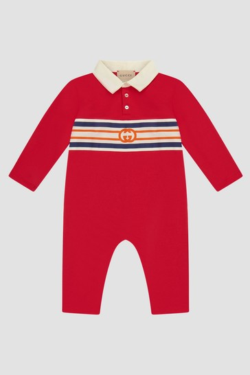 Baby Boys Red Rompersuit