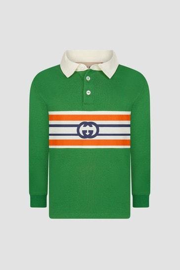 Baby Boys Green Polo Shirt
