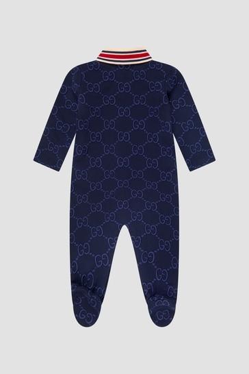 Baby Boys Navy Sleepsuit