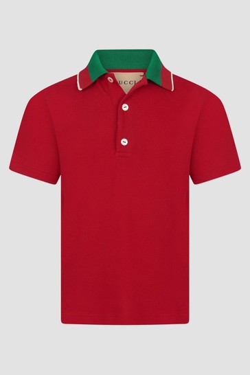 Baby Girls Red Polo Shirt