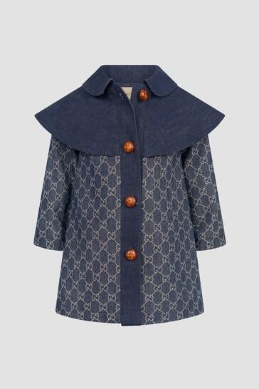 Baby Girls Navy Coat