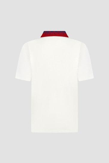 Boys Cream Polo Shirt