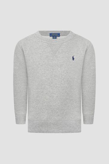 Boys Cotton Crew Neck Sweater