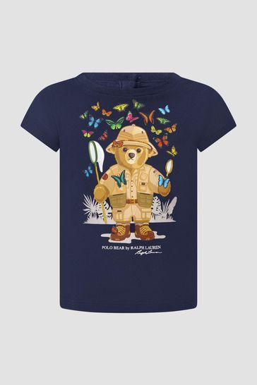 Baby Girls Navy T-Shirt