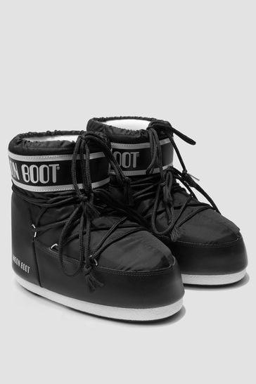 Girls Black Snow Boots