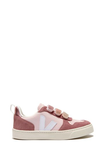 Girls Pink V-10 Velcro Trainers