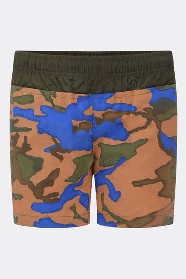 Boys Camouflage Print Swim Shorts