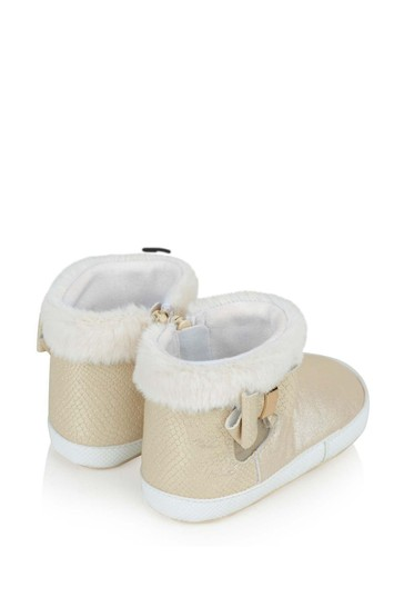 Baby Girl Champagne Booties