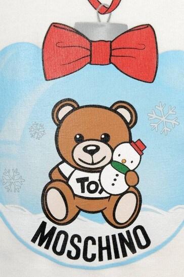 Girls Teddy Bauble Baby Top