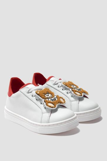 Girls Leather Teddy Trainers
