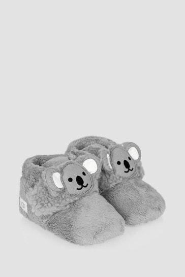 Baby Unisex Grey Bixbee Koala Booties