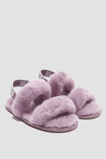 Girls Lilac Oh Yeah Slippers