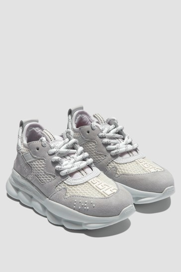 Boys Grey/White Trainers