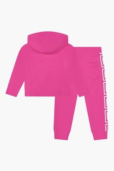 Girls Pink Tracksuit