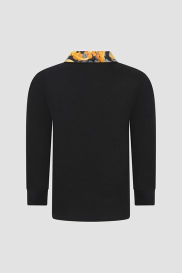 Baby Boys Black Polo Shirt