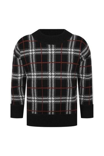 Boys Check Wool Sweater