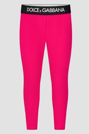 Girls Pink Leggings