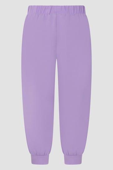 Girls Purple Joggers