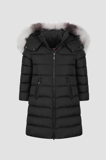 Girls Black Abelle Long Coat