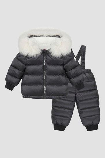 Baby Black Landane Snowsuit