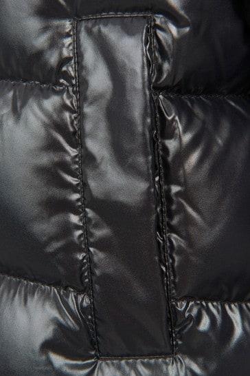 Girls Black Fustet Jacket
