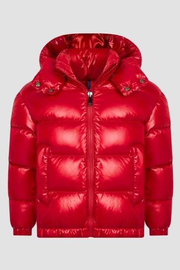Girls Red Fustet Jacket