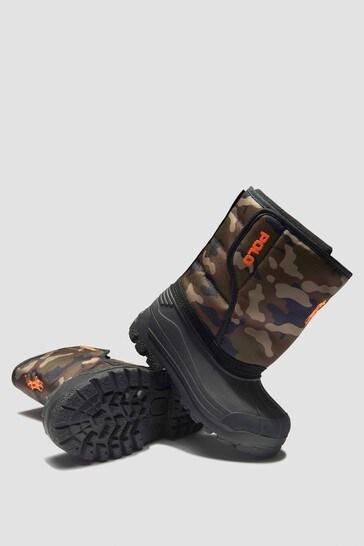 Boys Khaki Boots