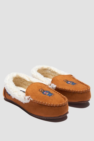 Boys Brown Slippers