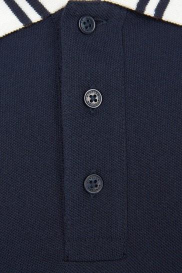Boys Navy Long Sleeve Polo Shirt