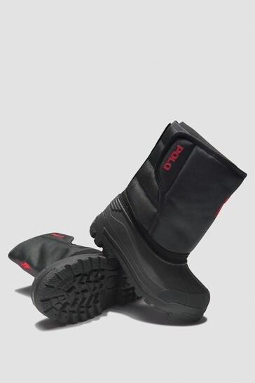 Boys Black Boots